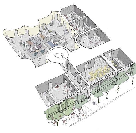 hotel layout ground floor aeccafe archshowcase