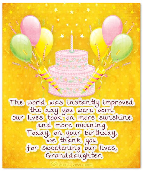 Granddaughter Birthday Quotes Sweet Birthday Wishes For Granddaughter
