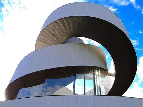 amazing ribbon chapel spiraling stairway  hiroshi