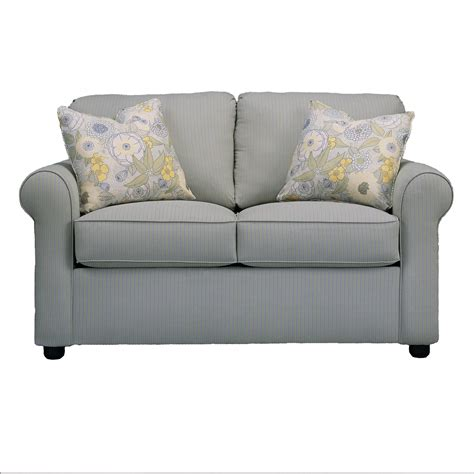 upholstery brighton klaussner brighton upholstered loveseat with rolled arms