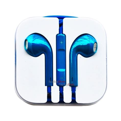 Earphone For Iphone 5 High Quality T0210 2 iphone headphones in blue 2018