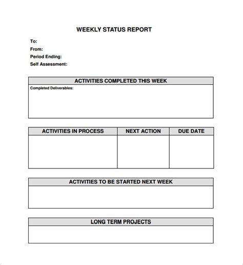 Sle Status Report Template Sanjonmotel Weekly Status Report Template Word