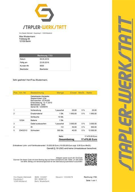 Rechnung Kleinunternehmer Ebay Gabelstapler Werkstatt Faktura Rechnungsprogramm Netzwerkl 246 Sung Bis 10 Rechner Ebay