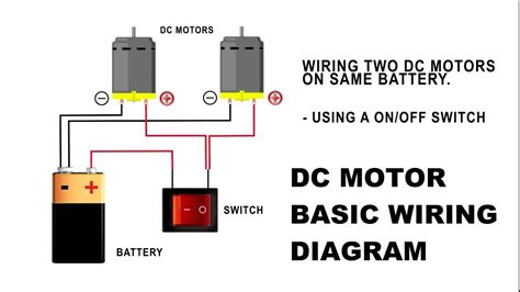 wire  dc motor  battery  switch  relay