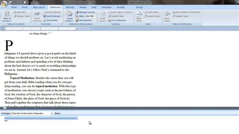how to format a footnote in word 2010 remove line separator from endnote or footnote in word