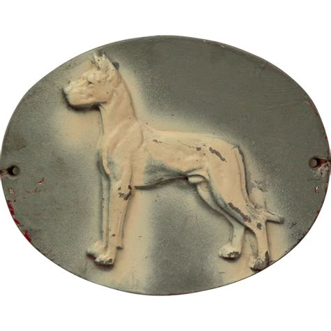 dog house cast large cast metal dog plaque house kennel sign from booksandbygones on ruby lane