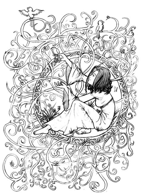 intricate fantasy coloring pages fantasy princess intricate coloring pages for advanced
