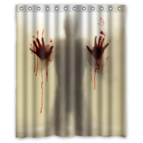 scary shower curtain horrific halloween shower curtains webnuggetz com