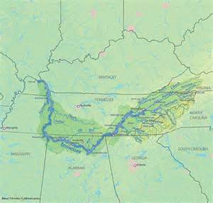 Tennessee River Map by Becky S Bridge To The Past April 2013