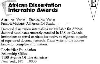 Uncf Mba Scholarship by Dissertation Award