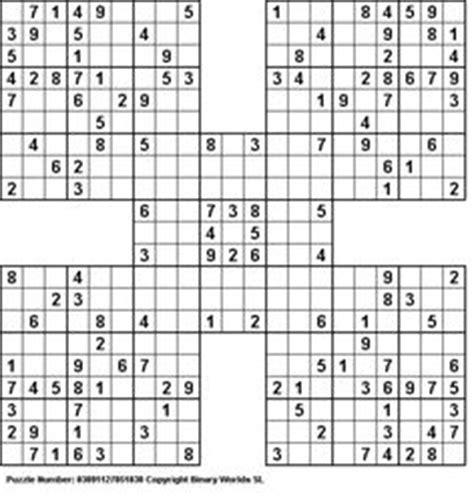 printable ultimate sudoku jigsaw samurai sudoku puzzles pinterest