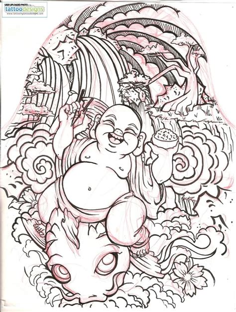 stencil tattoo designs laughing buddha stencil