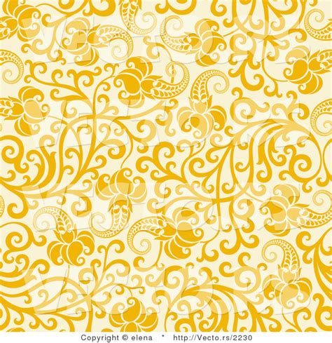 art design yellow vector of yellow flowers with vines over beige seamless