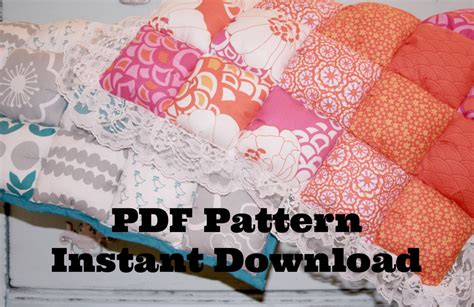 Make Your Own Quilt Pattern by Make Your Own Puff Quilt Pdf Pattern Biscuit Quilt By