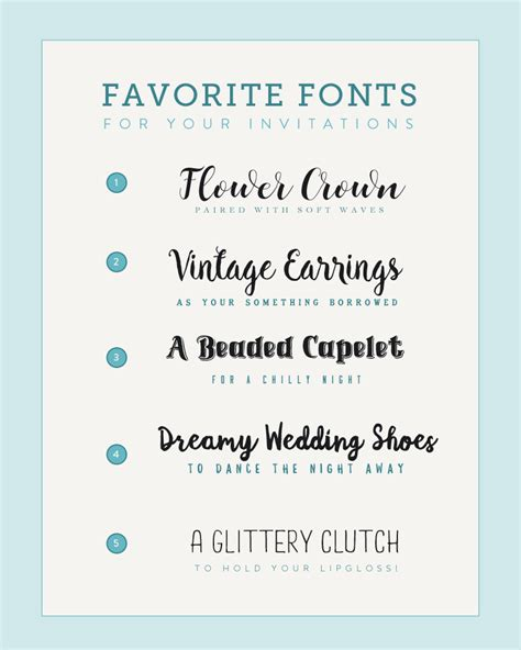 Wedding Font Pairings Free by Font Pairings Inspired By Wedding Accessories The Budget