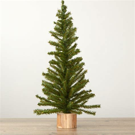 pine tree with real wood base christmas trees and