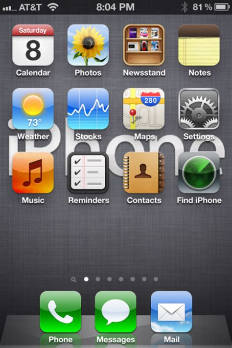 missing app store facetime itunes or other icon on iphone