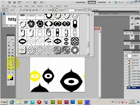 tutorial stencil photoshop cs3 photoshop cs5 using photoshop custom shapes to create