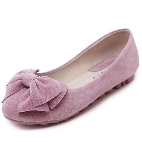 comfortable business shoes for women sweet ladies shoes solid with bow cute comfort flat shoes