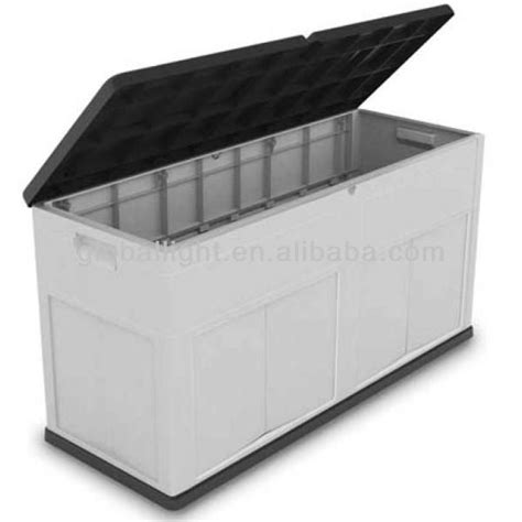 plastic bench storage high quality uv protected outdoor plastic storage box