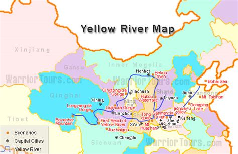 world map rivers huang he yellow river map