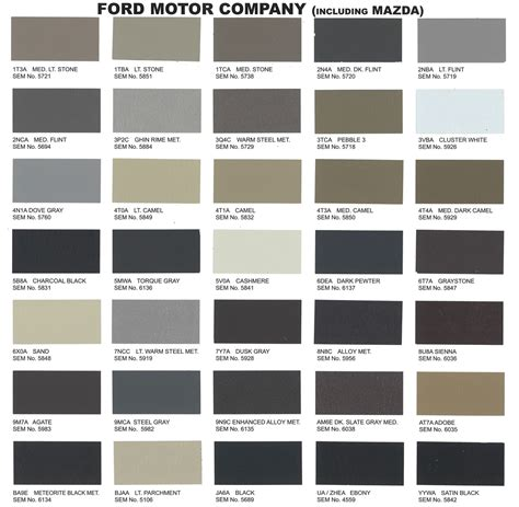 ford car colors interior upholstery paint ford 2011