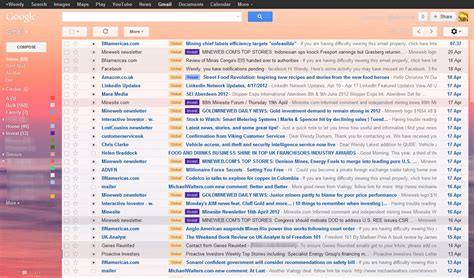 theme messages list gmail themes