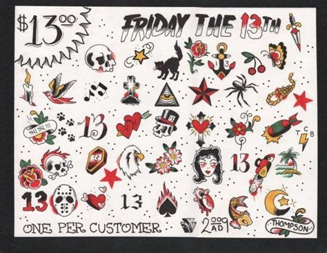 friday the 13th tattoos nj friday the 13th designs tats 13