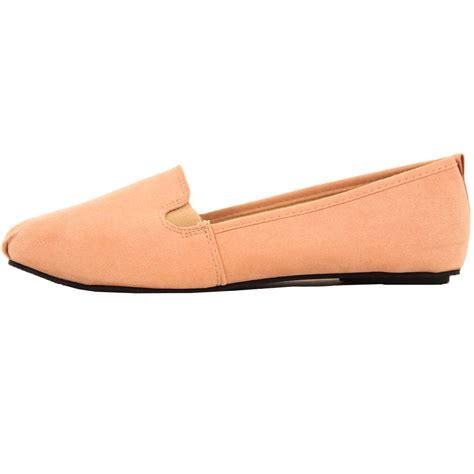flat boat shoes womens casual comfort slip on shoes classic faux suede