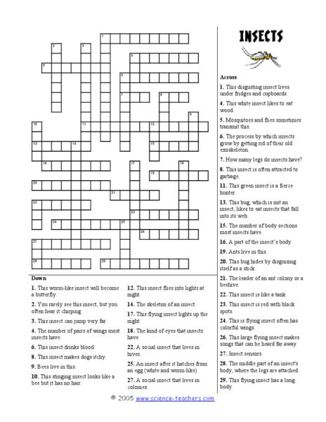 printable crossword puzzle for 3rd graders science crossword puzzles for 3rd graders crossword