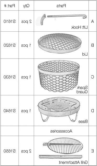 Fire Pit Parts And Accessories Fire Pit Ideas Pit Parts And Accessories