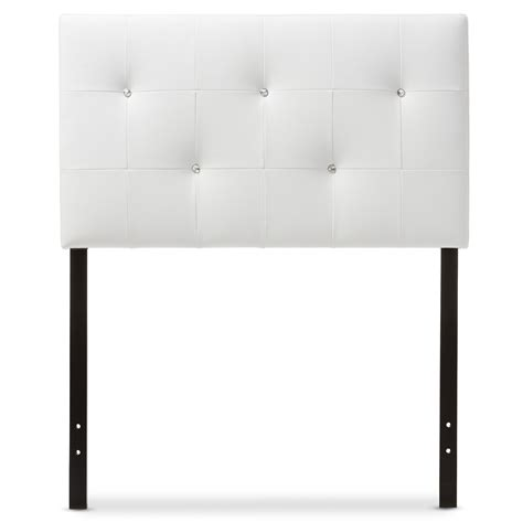 white twin size headboard baxton studio kirchem modern and contemporary white faux