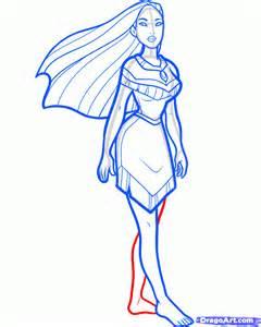 how to draw pocahontas step by step disney princesses