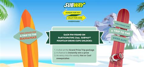 Cool Sweepstakes - subway canada wants to know if you like it hot or cool giveaway