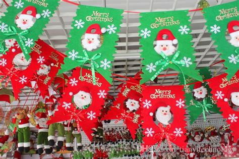 how to make school hall christmas best merry decoration flags santa clause snowman flags for home ktv bar church