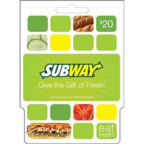 5 Subway Gift Cards - subway gift card entertainment dining gifts food shop the exchange