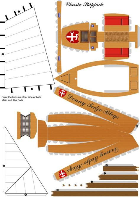 Boat Paper Craft - pics for gt boat papercraft template