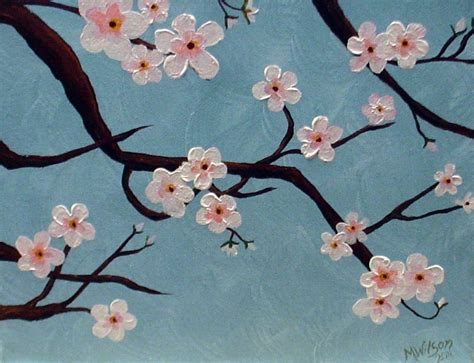 cherry blossom branch speed painting this cherry blossom painting was easy to create