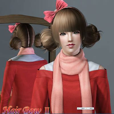 my sims 4 blog hair bow by s club my sims 3 blog hair bow ii by ll