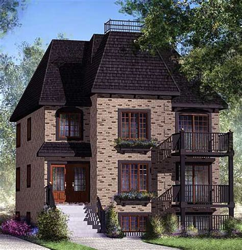 3 family home plan 80587pm 1st floor master suite cad