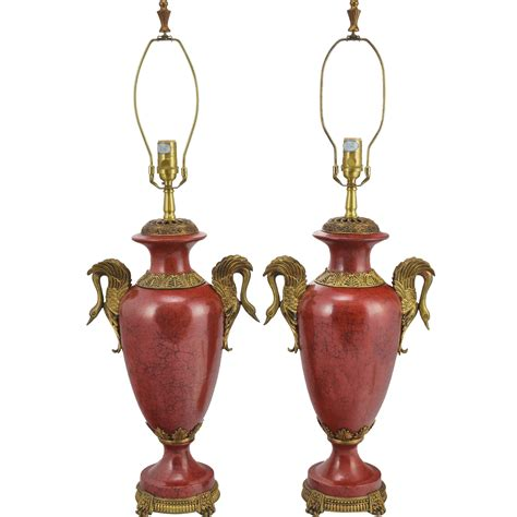 oriental accent l company pair oriental accent ls faux red marble and brass