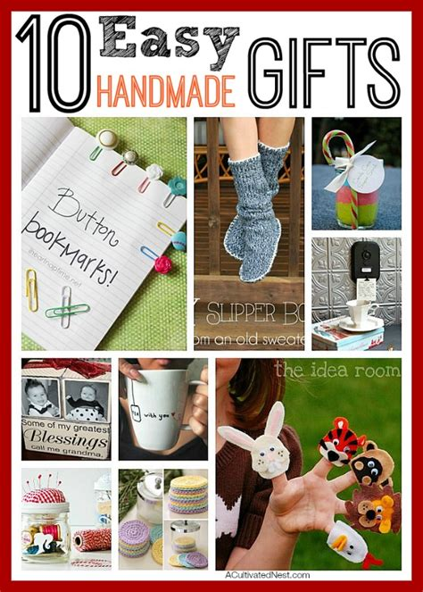 Easy Handmade Gifts - 10 easy handmade gifts diy gift ideas