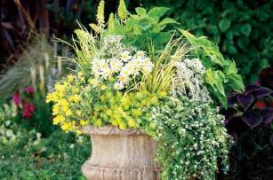 Perennial Planters by Container Ideas Perennials In Pots Gardening Birds