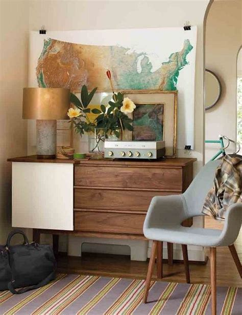mid century modern furniture look on a dime small room