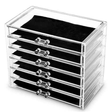clear storage drawers australia hot acrylic makeup organiser 6 tier clear cosmetic storage
