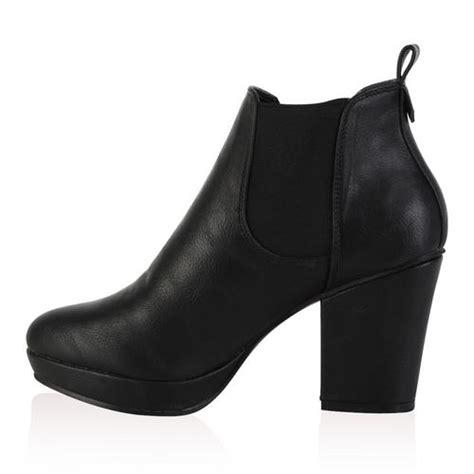 Chaussures Femme Talon by Bottine Chelsea Pour Femme Avec Plateforme Talon Carre Chaussures Taille 36 41 Ebay