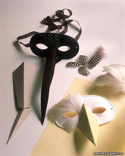 How To Make A Paper Bird Beak Mask - feather masks martha stewart