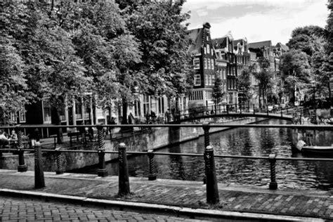 Amsterdam Noir Et Blanc by 187 Tableau Deco Canal D Amsterdam En Noir Et Blanc Toile
