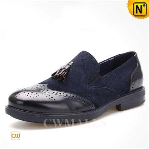 brogues loafers cwmalls 174 leather tassel brogue loafers cw716041