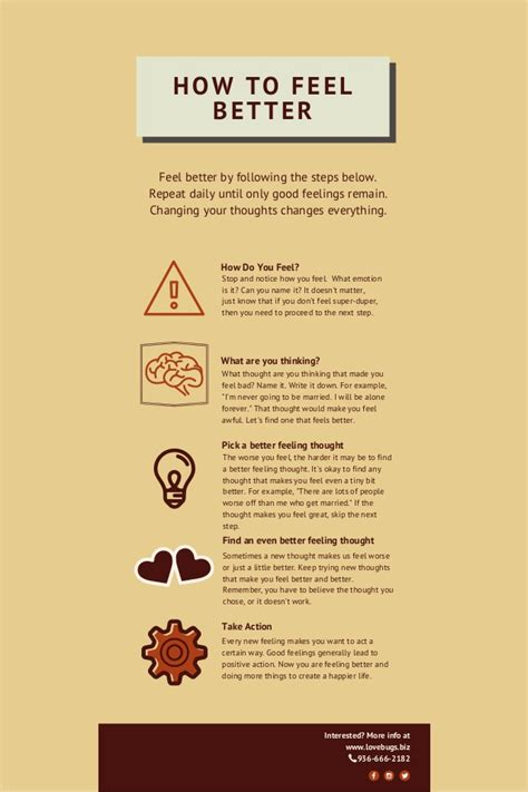 infographics how to print better infographic how to feel better
